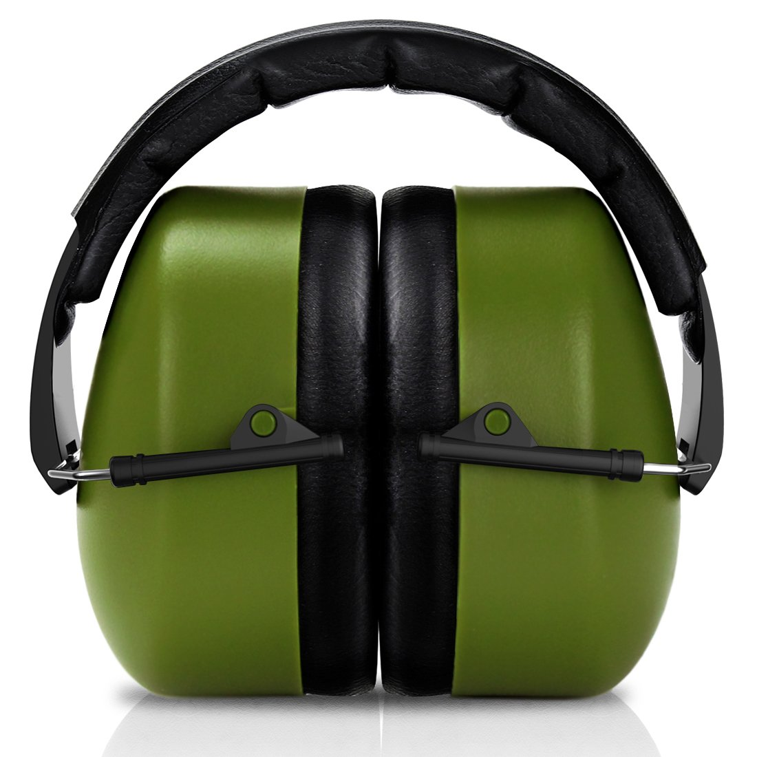 FRiEQ 37 dB NRR Sound Technology Safety Ear Muffs with LRPu Foam for Shooting, Music & Yard Work, Green by FRIEQ