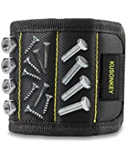 Magnetic Wristband, Kusonkey Tool Belt with 15 Powerful Magnets for Holding Screws/Nails/Drill Bits, Versatile Christmas Tool Gift for Men/Father/Dad/DIY Handyman/Electrician/Husband/Boyfriend.