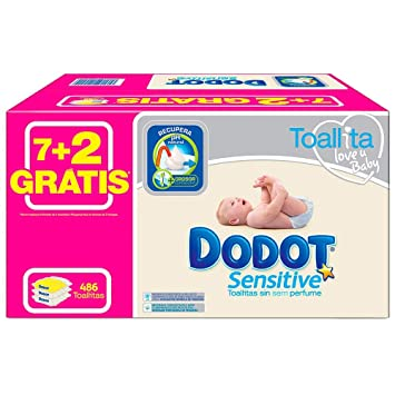Arbora & Ausonia, S.L. Dodot - Pack Toallitas Sensitive 486