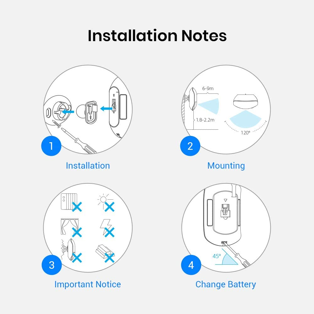 BroadLink Smart Motion Sensor, PIR for Home Automation, Works with IFTTT and Alexa Routines. Wireless Trigger Smart Home Devices and Scenes, Occupancy Lighting, S3 hub Included - -