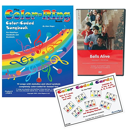 The Color-Ring Color-Coded Songbook, Color Coded Chord Cards and Bells Alive Christmas DVD by Rhythm Band