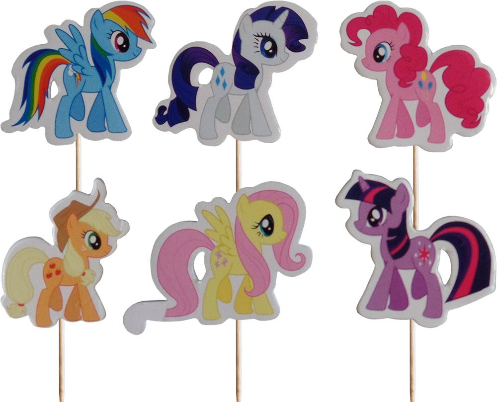 My Little Pony Cupcake Pick Toppers (Pack of 24) Party2u