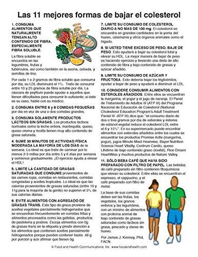 Cholesterol Color Handout Tearpad - Colesterol - Spanish - Pack of 50