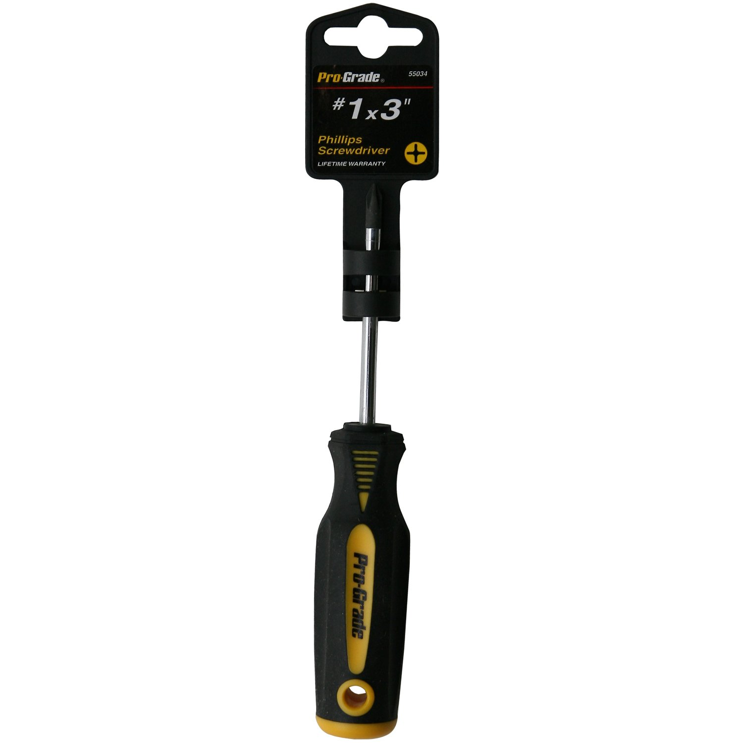 Pro-Grade 55026 1//8-Inch x 3-Inch Slotted Screwdriver