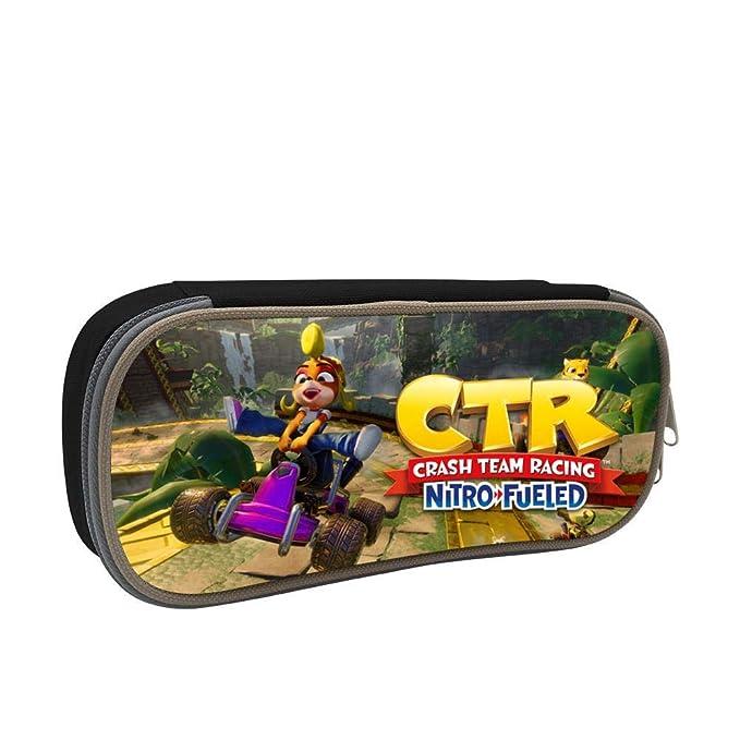 Amazon.com : GSGSDG CTR Go Kart Racing Temple Pencil Case ...