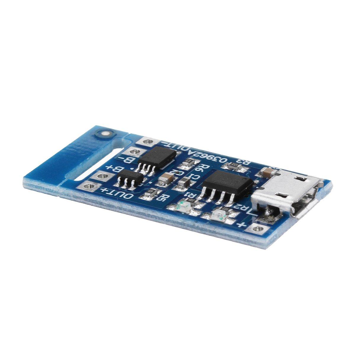 LaDicha 2 Pcs Tp4056 Micro USB 5V 1A Batterie Au Lithium Chargeur De Module De Charge Te585 Lipo Charger