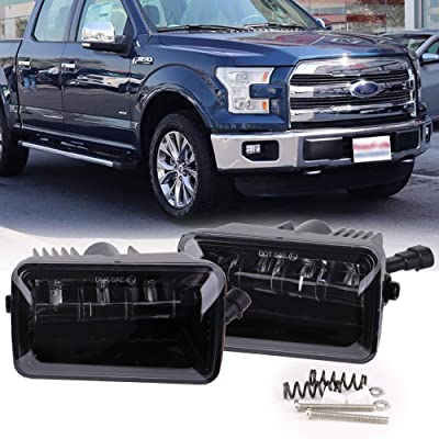 XPCTD 4 Inch Rectangular LED Fog Lights for 2015-2020 Ford F-150 2020-2020 Ford F250 Super Duty LED Spot Fog Lamp Bumper Driving Light Passing Lights Set DOT Approval: Automotive
