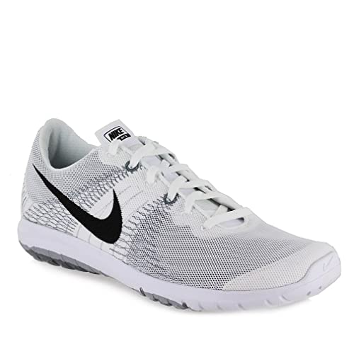 08ea3ab493d4 Nike Flex Fury Mens Running Shoes White Black-Wolf Grey-Cool Grey  705298-100 (10.5)  Buy Online at Low Prices in India - Amazon.in