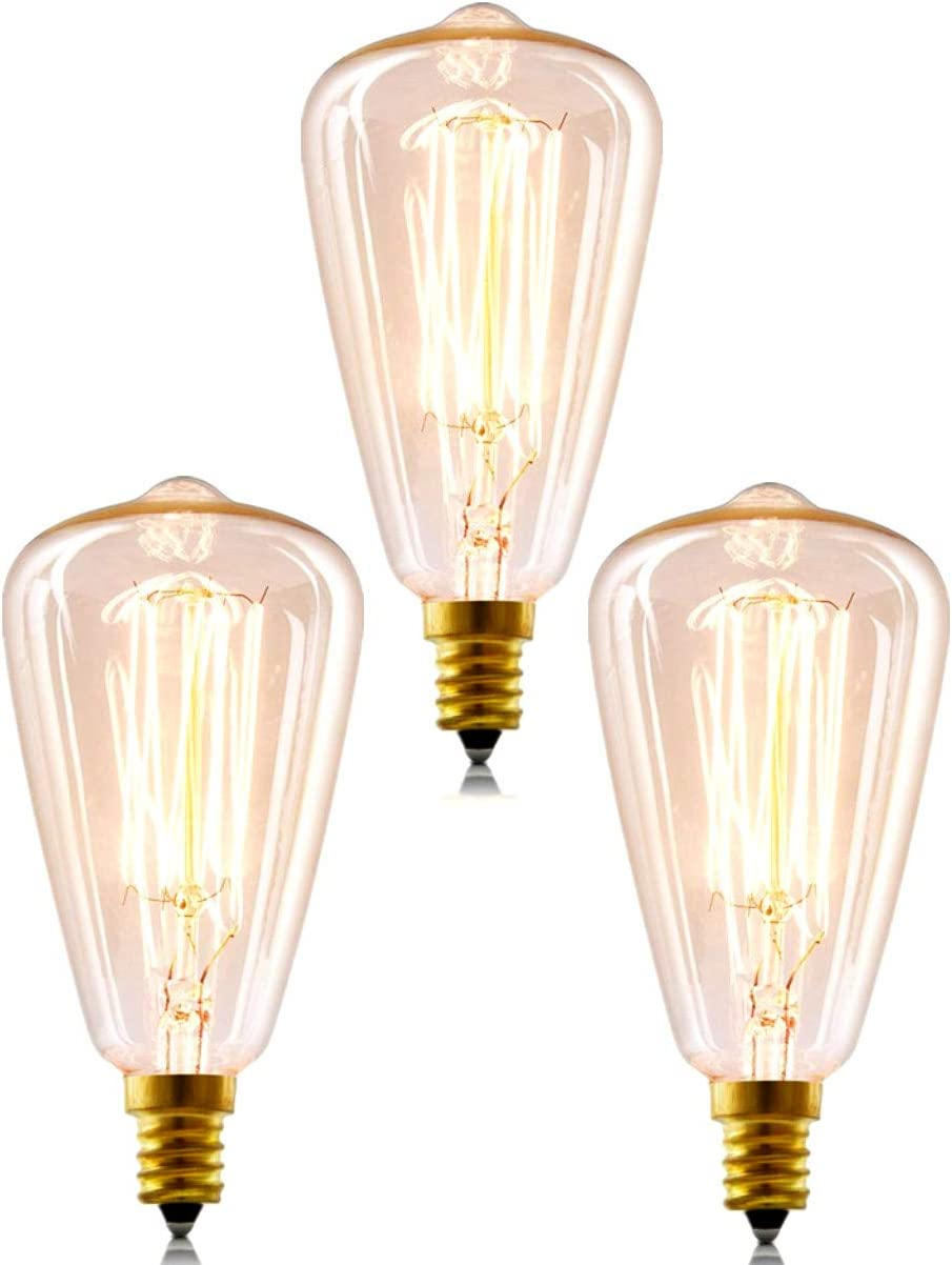 dekorative Vintage-Gl/ühbirne Tianfan Edison-Gl/ühbirne 10 St/ück 40 W Retro-Gl/ühfaden E14S kleine Edison-Schraube