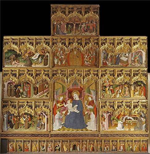 The High Quality Polyster Canvas Of Oil Painting 'Maestro Nicolas Frances Altarpiece Of The Lives Of The Virgin And Saint Francis 1445 1460 ' ,size: 24 X 25 Inch / 61 X 63 Cm ,this Cheap But High Quality Art Decorative Art Decorative Prints On Canvas Is Fit For Game Room Decor And Home Decoration And Gifts