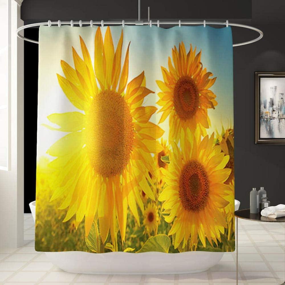 Cxypeng badematten Set 3 teilig h/änge wc,Sunflower Printed Shower Curtain Carpet Vierteiliges Blumenbadezimmer-Set-B/_3-teilig,Badezimmer Teppich rutschfest