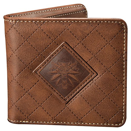 - JINX The Witcher 3 White Wolf Medallion Bi-Fold Wallet, Brown, One Size
