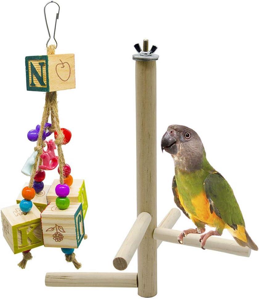 Cuatro Escenario Giratorio Escalera del Juguete, Juguetes del Loro del Pájaro del Juguete, Alfanumérico Morder Cadena Colgando De Hilo, La Jaula De Pájaros Decoración: Amazon.es: Hogar
