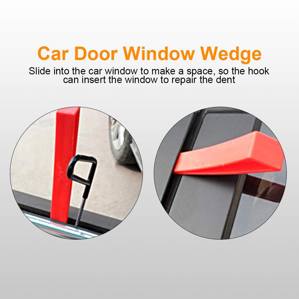 Keenso Red Window Wedge, Plastic Car Door Wedge Car Window Wedge Repair Paintless Dent Repair Tools Unlock Lockout Kit (5pcs) by Keenso (Image #2)