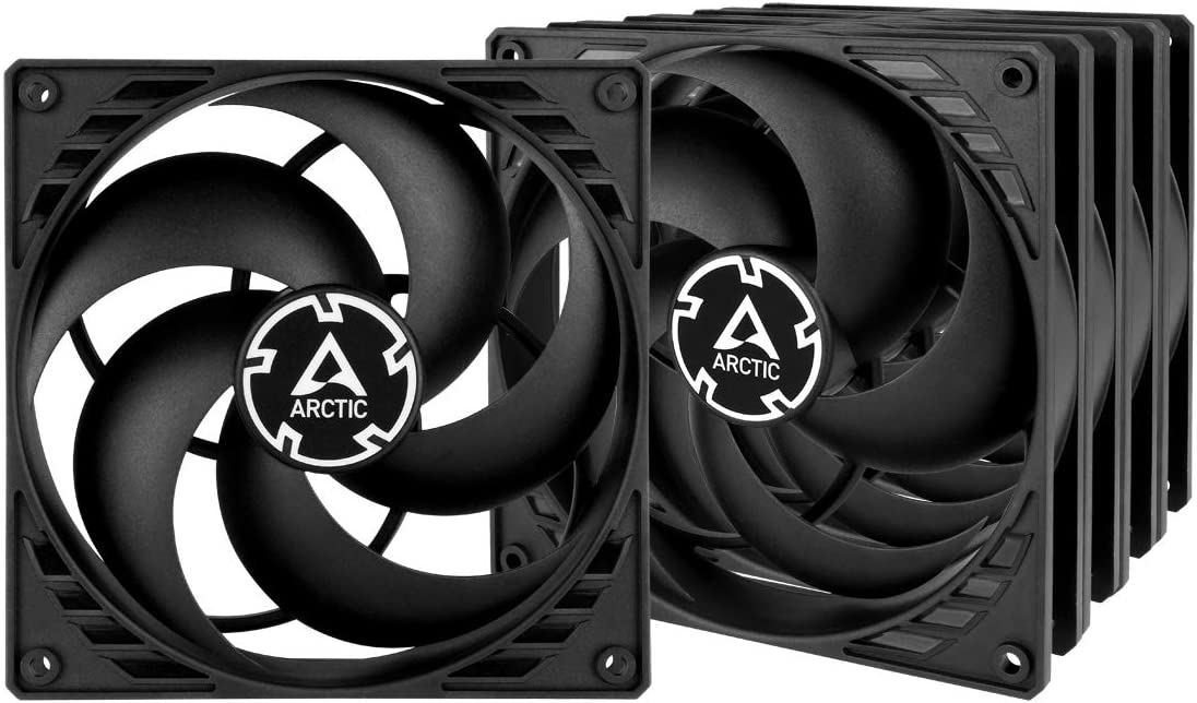 ARCTIC P14 Value Pack - 140 mm Case Fan, Five Pack, Pressure-optimised, Very Quiet Motor, Computer, Fan Speed: 1700 RPM - Black