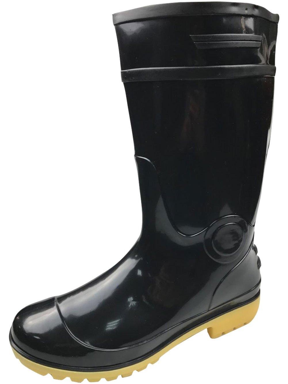 Adult Men's Antiskid Waterproof Rubber Sole Work Shoes Rain Boots (8.5)