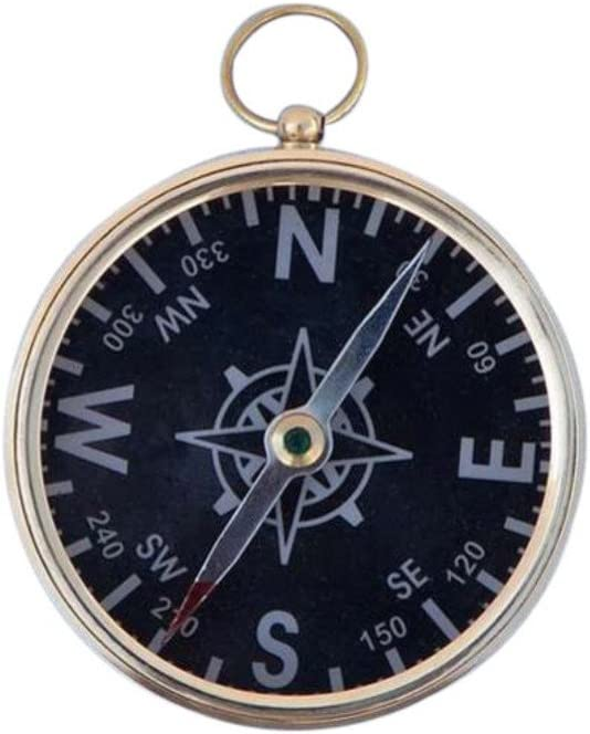 3 Hampton Nautical Solid Brass Captains Black Faced Compass