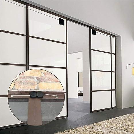 Cierrapuertas con sensor automático multifuncional sin perforaciones, los cierres de pestillo de puerta se cierran automáticamente para hogares, oficinas y talleres (Negro, 1 m): Amazon.es: Bricolaje y herramientas