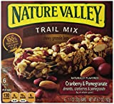 Nature Valley Chewy Trail Mix Granola Bars, Cranberry and Pomegranate, 6.7 oz (Pack of 6)