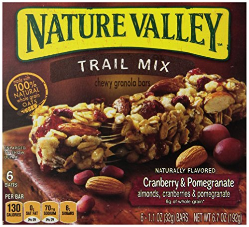 Nature Valley Chewy Trail Mix Granola Bars, 6 Count Box