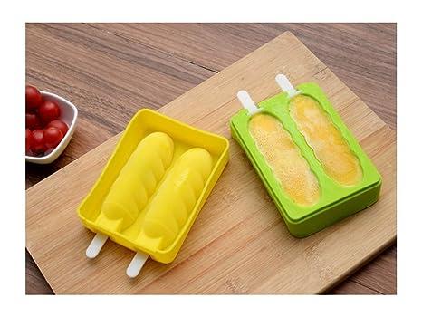 GYwink Cocina Moldes para Helado de Silicona Molde para Helado congelado Bandejas para moldes de Hielo