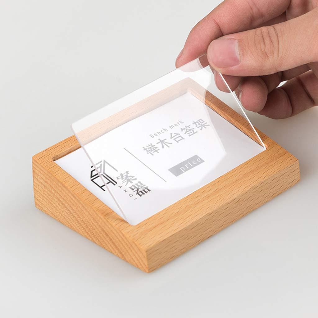 Luosh Porta Biglietti Da Visita Id Porta Carte Di Credito Espositore Da Tavolo In Legno Menu