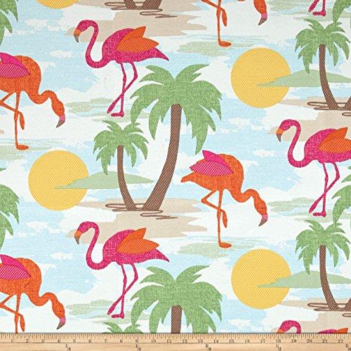 Swavelle/Mill Creek Indoor/Outdoor Langebaan Primary Fabric By The Yard (Flamingo Outdoor Fabric)