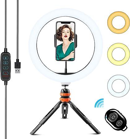 Wowgo Ringlicht Mit Stativ 10 Zoll Led Selfie Kamera