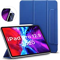 "ESR Rebound Magnetic Smart Case for iPad Pro 12.9"" 2020, Convenient Magnetic Attachment [Supports Apple Pencil Pairing & Charging] Smart Case Cover, Auto Sleep/Wake Trifold Stand Case - Navy Blue"