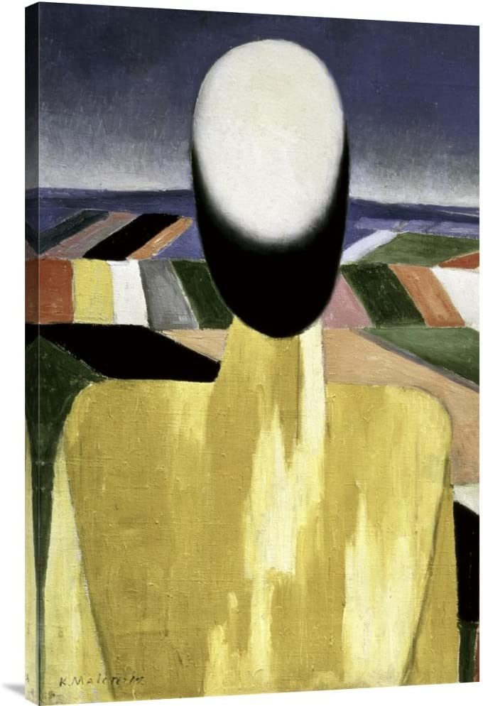 Amazon Com Global Gallery Budget Gcs 394115 2436 142 Kazimir Malevich Two Farmers Left Gallery Wrap Giclee On Canvas Wall Art Print Posters Prints