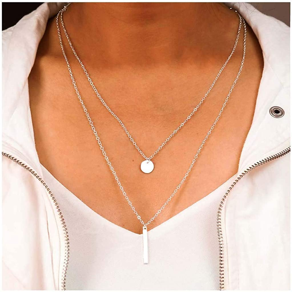 Frodete Fashion Gold Silver Horseshoe Necklace U Shaped Horse Hoof Pendant Necklaces for Women Jewelry