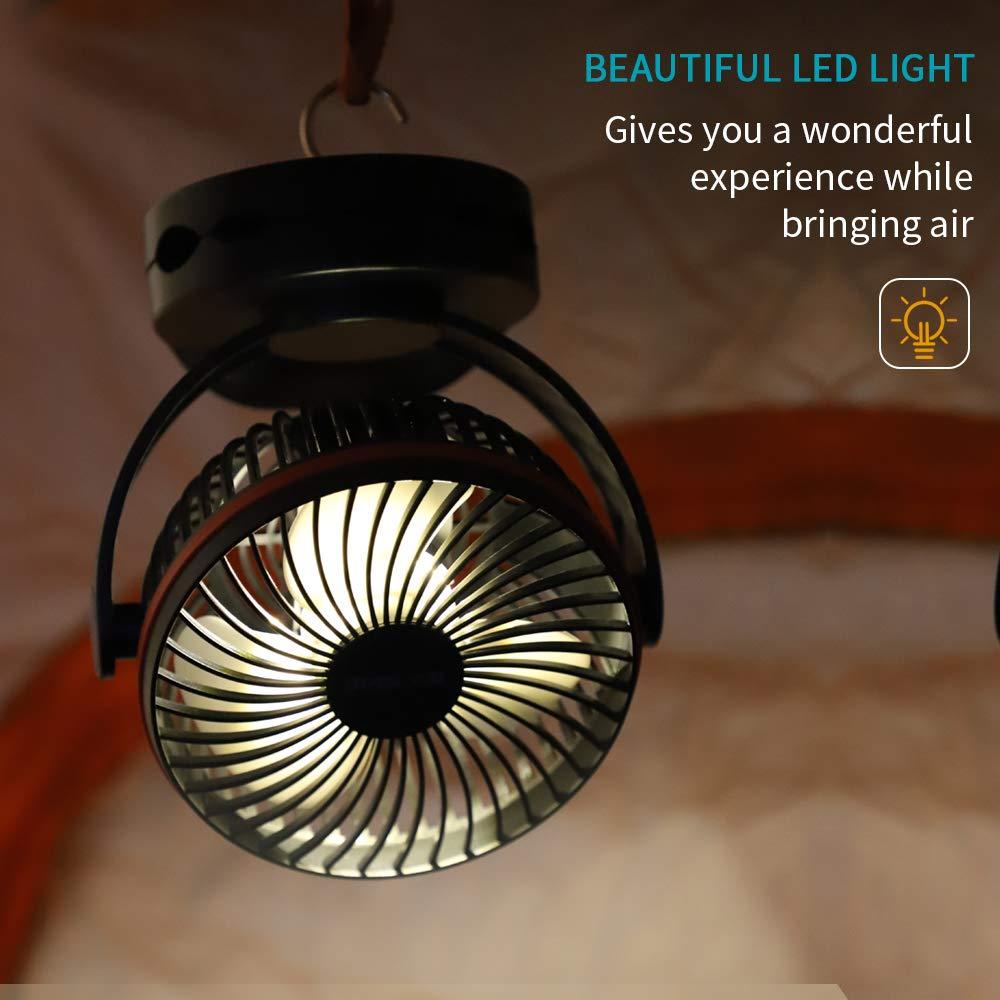 Cheap OPOLAR 5000mAh Camping Lantern Clip On Fan With