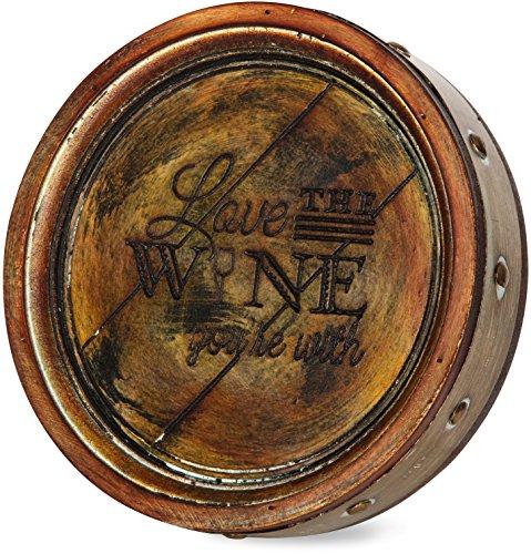 Cheap Pavilion Gift Company 22075 Love Wine Barrel Plaque, 8-Inch
