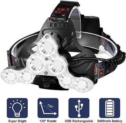 30W LED Outdoor Kopfleuchte Taschenlampe Einstellbare Leuchtstärke Stirnlampe