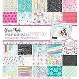 Grace Taylor 31 x 31 x 4 cm Sherbet Sky 100-Sheet Paper Pad, Multi-Colou