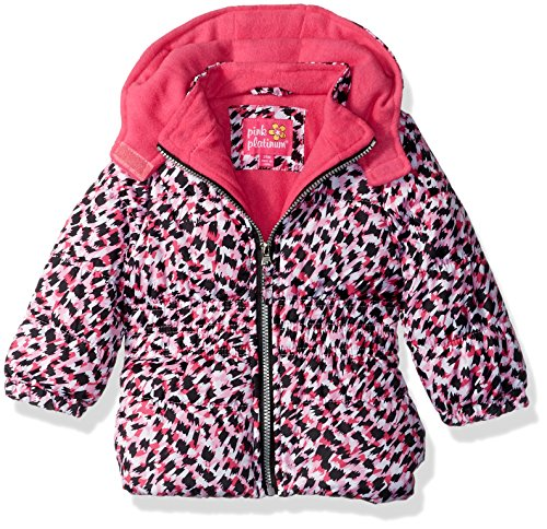 Pink Platinum Baby Girls colorful Cheetah Puffer, Pink, - Colorful Cheetah