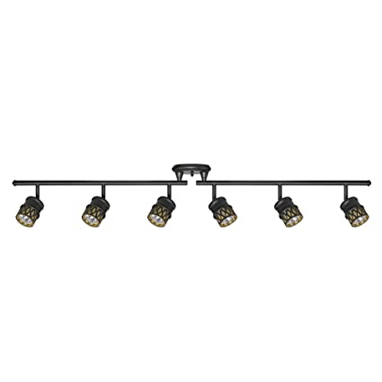 amazon com globe electric kearney 6 light foldable track lighting