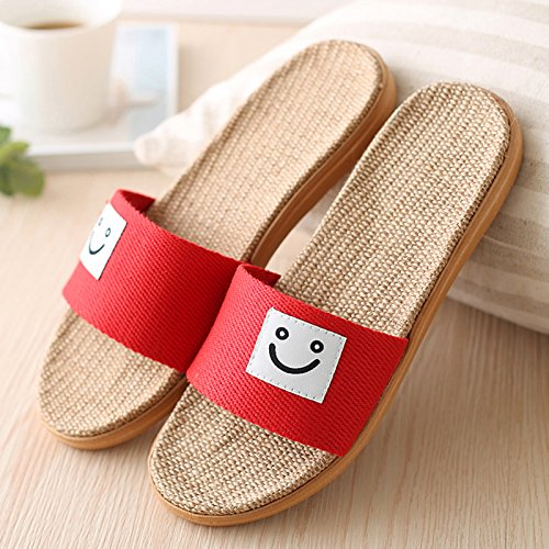 DogHaccd en cartoon Zapatillas la pisos verano de zapatillas rojo3 casa espeso ropa verano parejas hembra habitación Zapatillas masculinas antideslizante El cool vv5qwr0