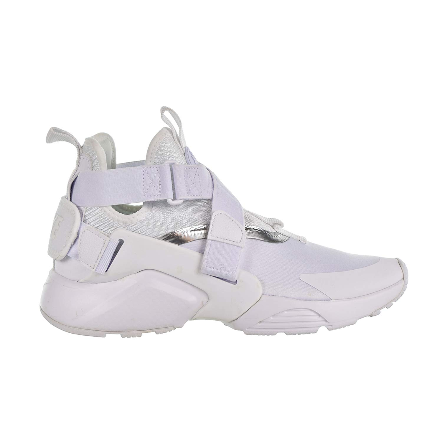 sale wholesale online footwear Nike Huarache City (GS) Youth Unisex Fashion Sneakers, Size 6.5, Color  White/White Metallic/Silver