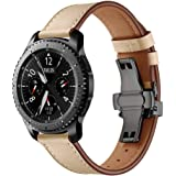 【KANDOX】Samsung Gear S3バンド 天然皮革製Galaxy Gear S3 Frontier/Classic, Asus Zenwatch 2, Moto 360 2nd 時計バンド