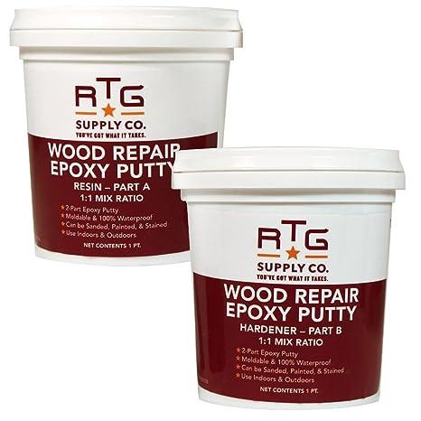RTG Wood Repair Epoxy Putty (2-Pint Kit): Amazon.com: Industrial ...