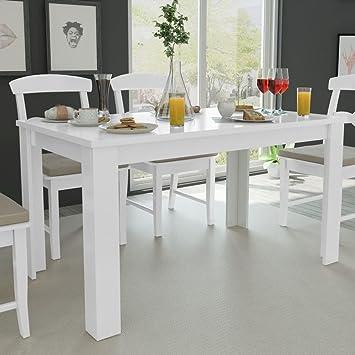 Fesjoy Mesa de Comedor Blanca Simplicidad Cocina Habitación Mesa ...
