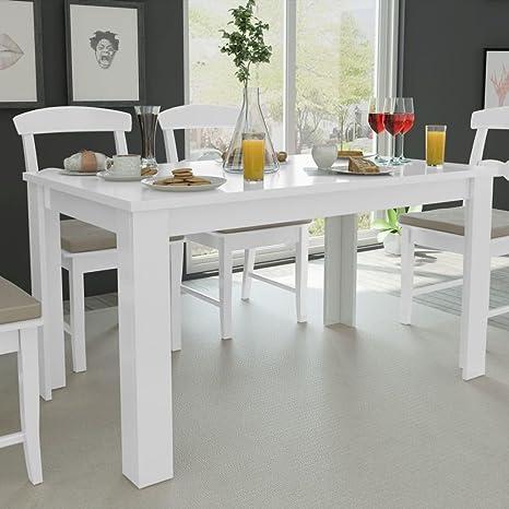 Fesjoy Tavolo da Pranzo Bianco Simplicity Tavolo da Cucina Tavolo ...