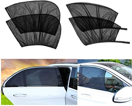Front window Amaoma 2 Pack Car Window Shades for Baby UV Protection Car Sun Shades for Kids Universal Anti Mosquito Car Window Shade Breathable Car Sun Shades for Baby Children Pets Fits Most Cars