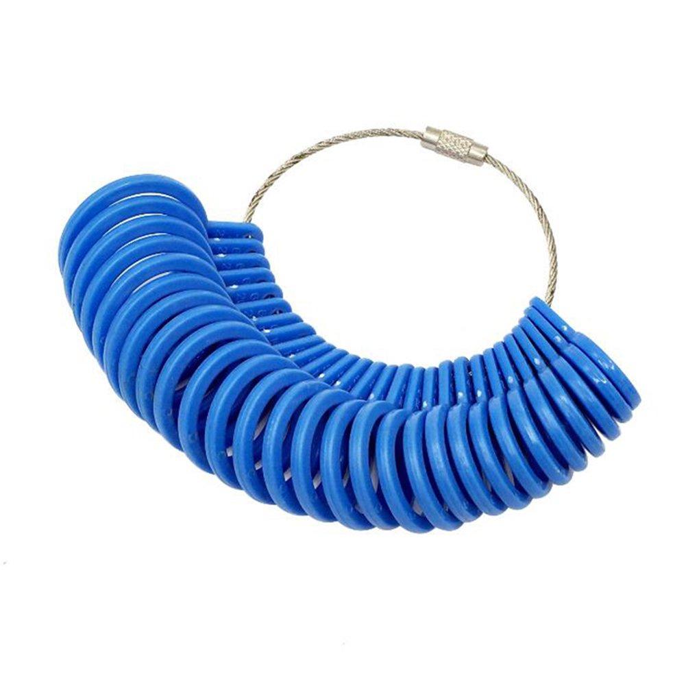 uniqueen 27pièces Kit de Bijoux Ring Sizer Jauge de doigt en plastique outil de mesure Appareil pour anneaux diamètres KSEB_A100_RS