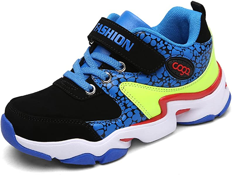 SFNLD InStar Kids Breathable Hook and Loop Antiskid Sports Sneakers Shoes
