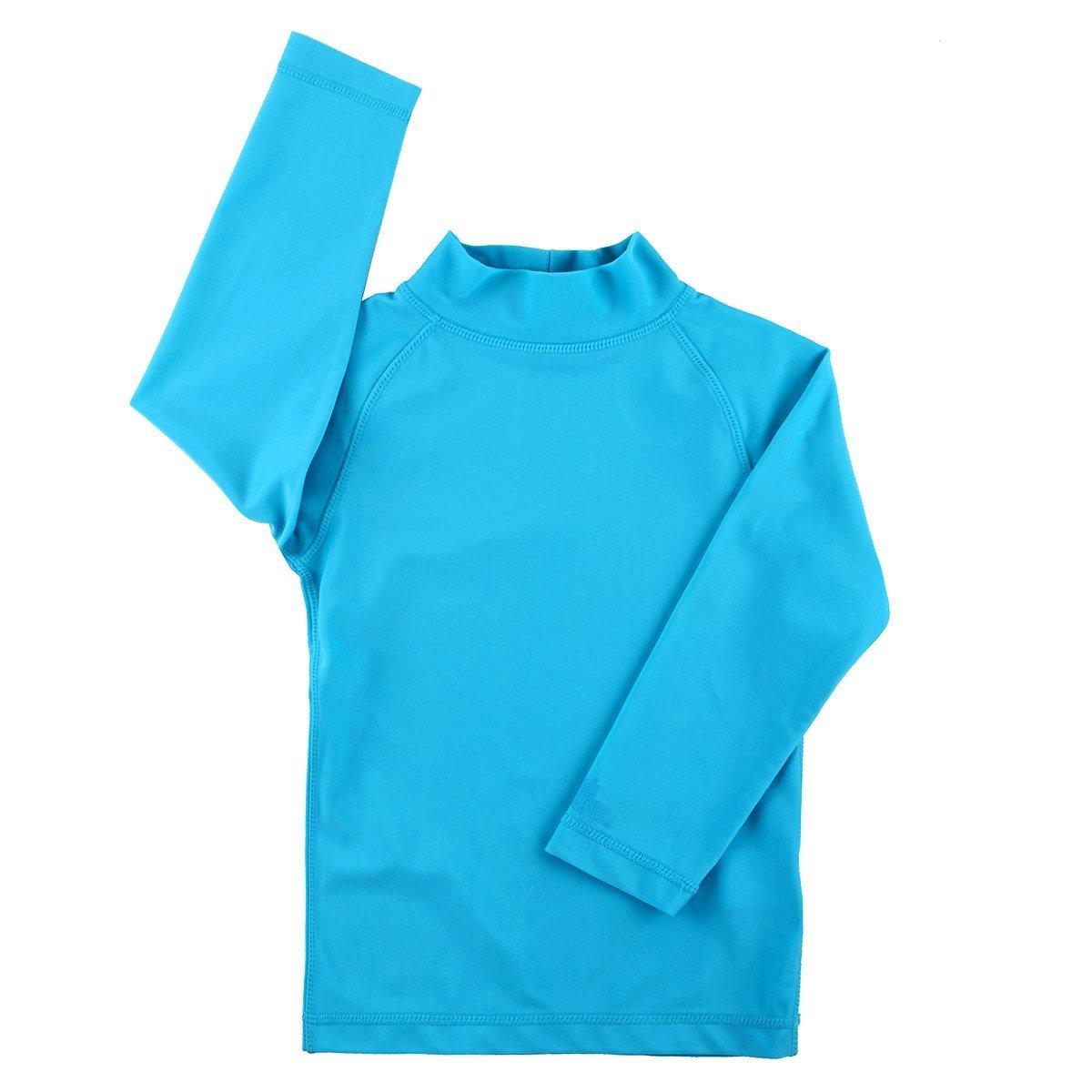 Comfortable Fit in UPF 50 Fabric UV Skinz Girls Long Sleeve Sun /& Swim Shirt