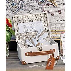 Mini Suitcase Wishing Well by Weddingstar Inc.