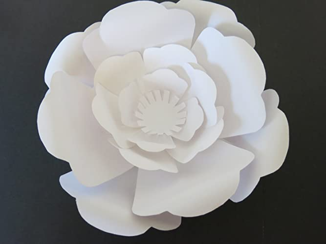 large white paper rose flower wall hanging classic giant paper flower wedding backdrop