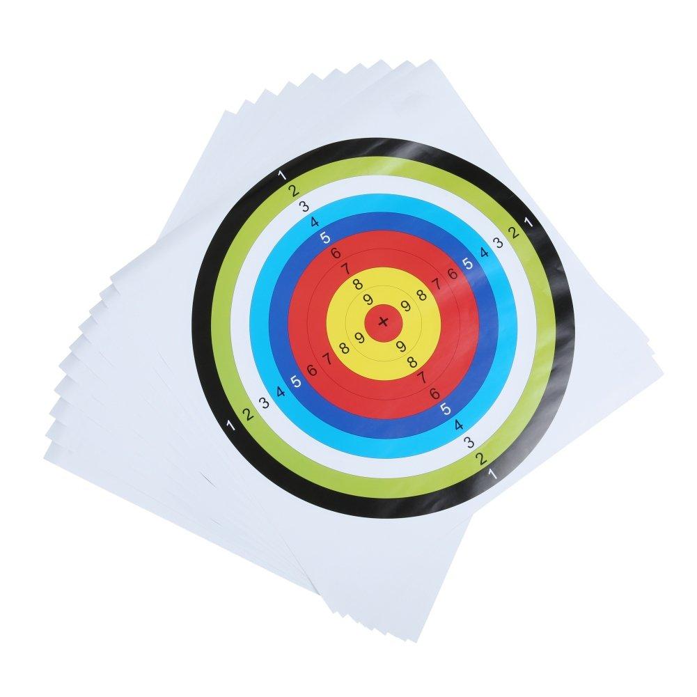 Moresave 10 piezas de blancos de papel para tiro con arco práctica de caza
